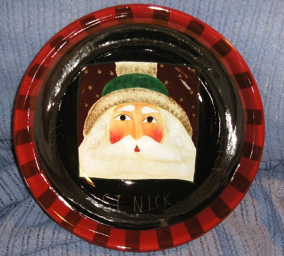 Oneida Sakura Santa Portraits 11 inch Serving Bowl NEW