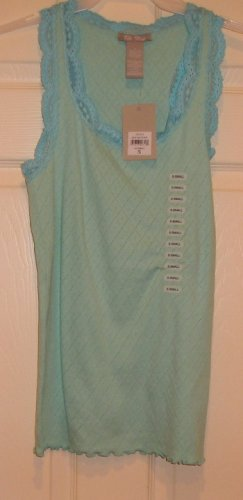 NEW Ella Rose Womens Teens Sea Foam Tank Top Small
