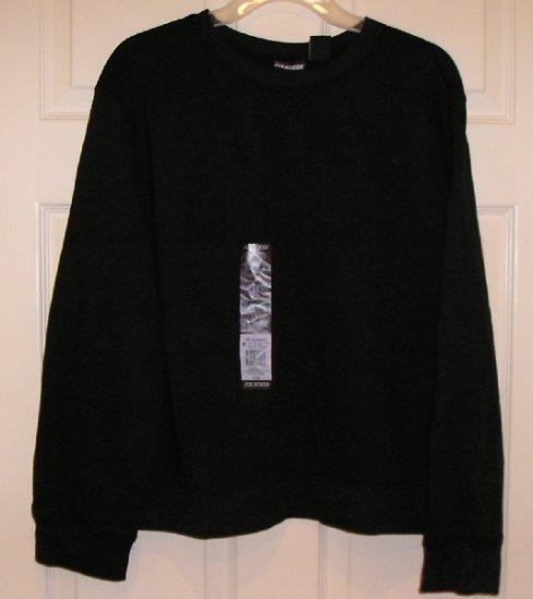 Joe Boxer Basic Black Sweat Shirt SweatShirt Sz. XL NEW