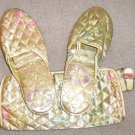Womens Pier 1 Gift Set Slippers and Cosmetic Case NEW Size M