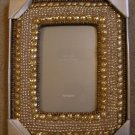 Pier1 Pier 1 Imports Gold Beaded Frame Desktop 5 x 7 NEW
