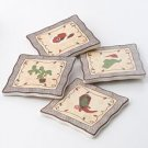 St Nicholas Square 4 Pc Coaster Set NEW GIFT Christmas Western Theme