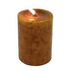 NEW Solid Color Pillar Candles 3 x 4 Caramel Color 2 for 1