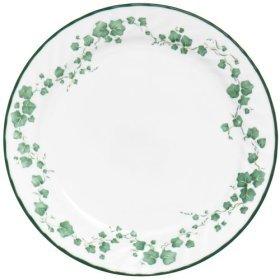 2 CALLAWAY Corelle Coupe Dinner Plates 10 1/8 Green Ivy EUC