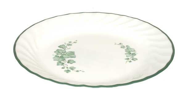 4 CALLAWAY Corelle Coupe Green Ivy Salad Dessert Plates EUC