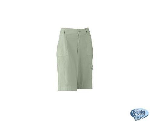 Womens Walking Shorts Dockers Parsley Longer Style Sz 12