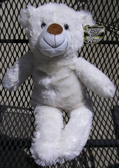 Cuddly Cousins 19 Inch White Teddy Bear FREE Shipping NEW