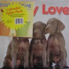 Puppy Love 2009 Wall Calendar 16 Month Puppy + Bonus Pocket Calendar NEW