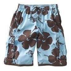 Tony Hawk Floral Board Shorts Mens Small Blue & Brown $34.00 NEW