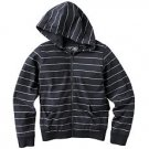 NEW Boys Striped Hoodie or Hooded Jacket by Urban Pipeline Sz Extra Large Black