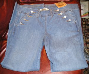 Womens Stretch Wide Leg Jeans Sz. 5/6 by Route 66 Medium Blue