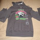 LOONEY TUNES Juniors Medium 7/9 GRAY Holiday HOODIE Hooded Sweatshirt PEPE LE PEW TAGS