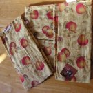 4 Pc LOT of Kitchen TOWELS Harvest Apple Design with TAGS
