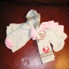FADED GLORY  Fashion Crew Socks 5 Pair Tan and Pink with TAGS