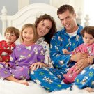 Adult Fleece Pajamas Long Sleeve + Pants Childrens Place Classics Pajama Set Blue Small