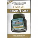 Yankee Candle Car Gel Bonus 3 Pack Ocean Water Scent Sealed Car Fresheners