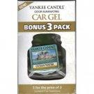 Yankee Candle Car Gel Bonus 3 Pack Ocean Water Scent Sealed Car Fresheners
