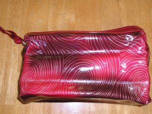 New Avon Burgundy Make Up Bag Case Large Size FREE SHIPPING