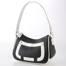 Mini Hobo Purse or Hobo Bag Nine & Co Black and White Design NEW
