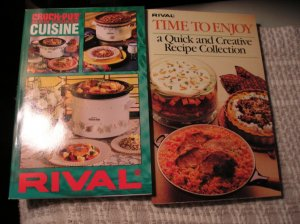 Rival CookBook Cook Book Lot 2 Books Time to Enjoy and Slow Cooker Cuisine Crock Pot NEW