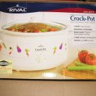 Rival Select 7 Quart Slow Cooker or Crock Pot CrockPot White Auto Protect NEW