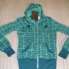 Juniors Turquoise HOODIE Hooded Sweatshirt Miss Chievous MissChievous Sz. Small NEW