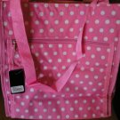 Pink with Polka Dots Tote Bag Purse Large Size + Coin Purse Wipeable NEW