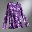 Vera Wang Women's T-Shirt Tee Brush Stroke Purple Womens Top NEW Size XS