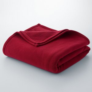 Dark Red Microfleece Blanket Queen/Full Size NEW 90 x 96 Oversized Warm Blanket
