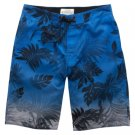 Aeropostale Board Shorts Mens Board Shorts Hibiscus Print Sz. 2XL BLUE