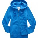 Aeropostale Aqua Hoodie Hooded Jacket Pockets Juniors S Zip Front NEW