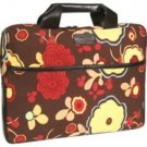 Kailo Chic Mocha Floral Print Canvas Laptop Sleeve 15.4 Inch Laptop Notebook Carrying Case NEW