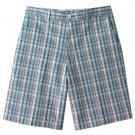 NEW Mens Haggar Shadow Plaid Shorts Blue Plaid Sz. 34 NEW