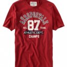 Aeropostale Athletics Champs Graphics T-Shirt Tee Red Size Small Mens Teens Boys NEW