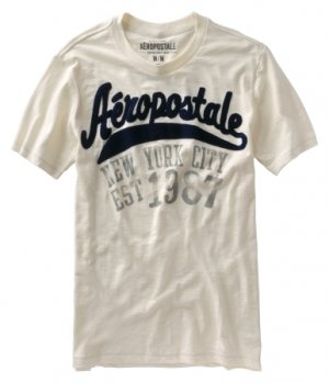 Aeropostale Athletics Graphics T-Shirt Tee Off-White or ...