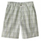 NEW Mens Haggar Shadow Plaid Shorts Tan or Khaki Plaid Sz. 40 NEW