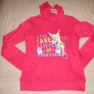 DISNEY Juniors XL 15/17 RED Holiday HOODIE Hooded Sweatshirt TINKERBELLE NEW