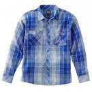 Mens Enyce Prism Plaid Casual Button-Front Shirt Oxford Style ROYAL BLUE Sz. XXL NEW