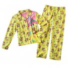Spongebob Squarepants Girls Winter Pajama Set 2 Pc Sz. Small - 6-6X NEW