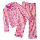 Disney Princess Flannel Girls Winter Pajama Set 2 Pc Sz. 4 NEW