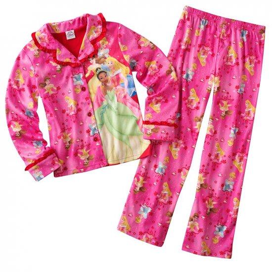 Disney Princess Girls Winter Pajama Set 2 Pc Sz. 4 NEW