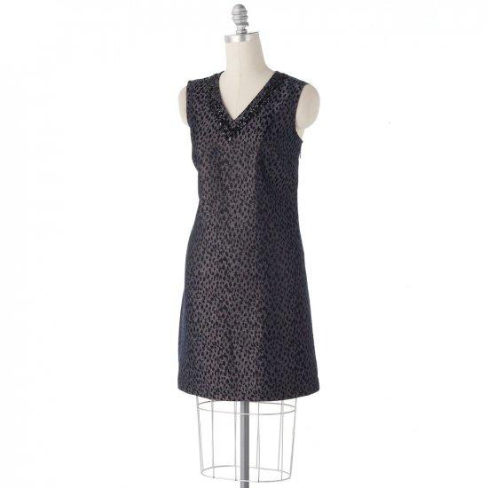 Womens Cheetah Dress by Dana Buchman Sz. 4 Shift Style NEW
