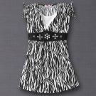 Candies Zebra Pattern Shirt Top Girls Large Layered Look NEW