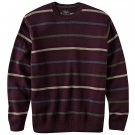 Mens Haggar Striped Crew Neck Sweater XXL or 2XL Maroon NEW