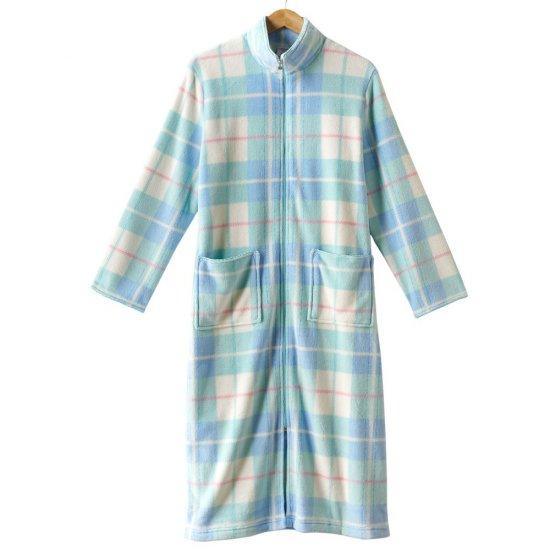 Womens Long Plush Robe in Plaid Sz. Extra Large Croft & Barrow NEW