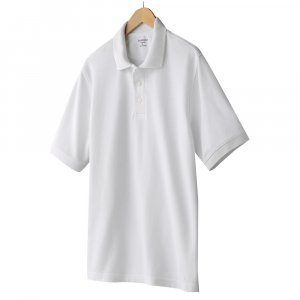NEW Solid White Polo Shirt Mens Short Sleeve Sz XL Croft Barrow $26.00