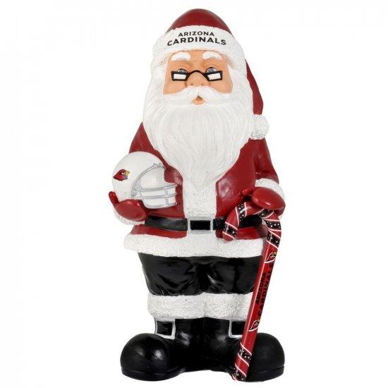 NEW Arizona Cardinals Santa Christmas Decoration Resin Santa 10+ Inches