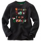 NEW Toddler Black Unisex Thermal T-Shirt Tee Size 7 L Holiday Long Sleeves