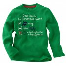 NEW Toddler Unisex Thermal T-Shirt Tee Size 4 Small Holiday Long Sleeves Green