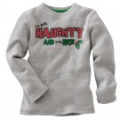 NEW Toddler Unisex Gray Thermal T-Shirt Tee Size 5-6 Medium Holiday Long Sleeves